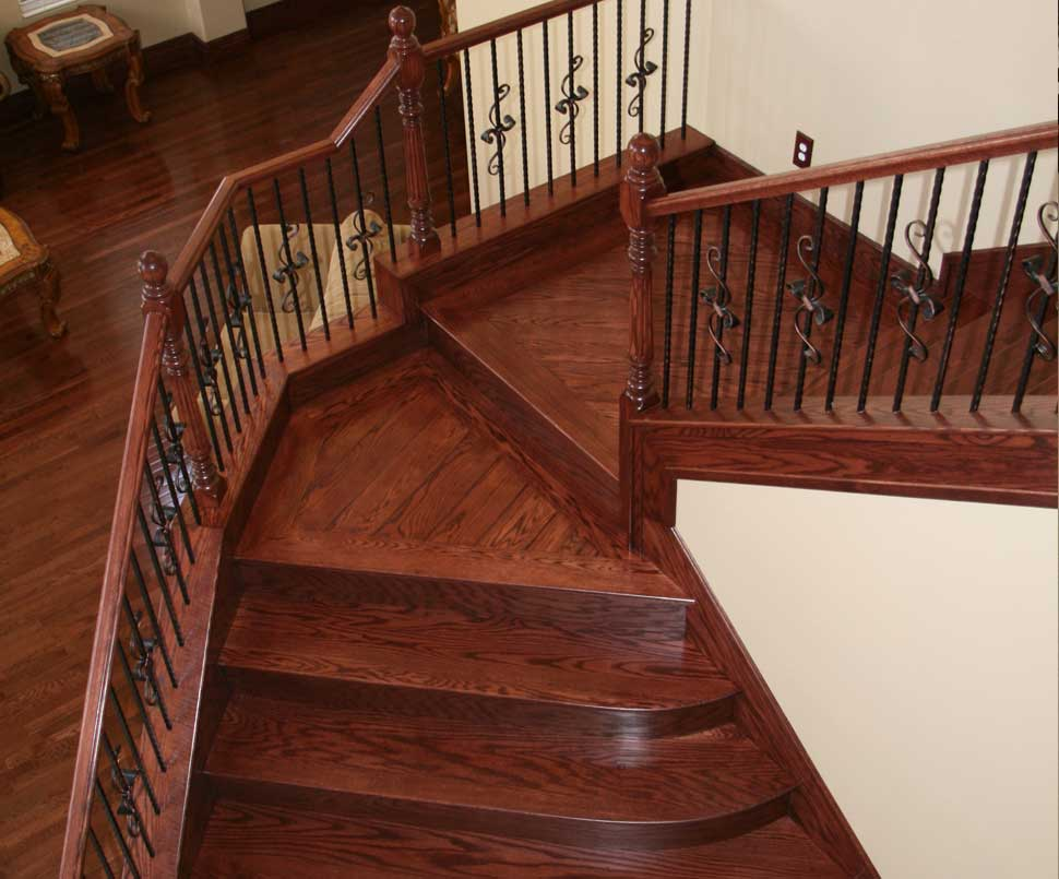 Solid Wood Treads with Landings